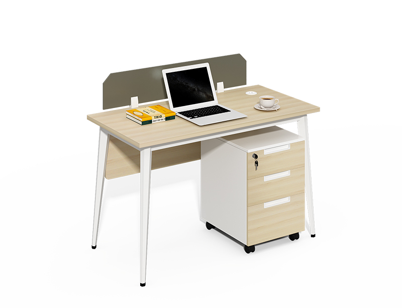Factory price 1 seater small 1200mm office table with drawers CF-BKW1260G