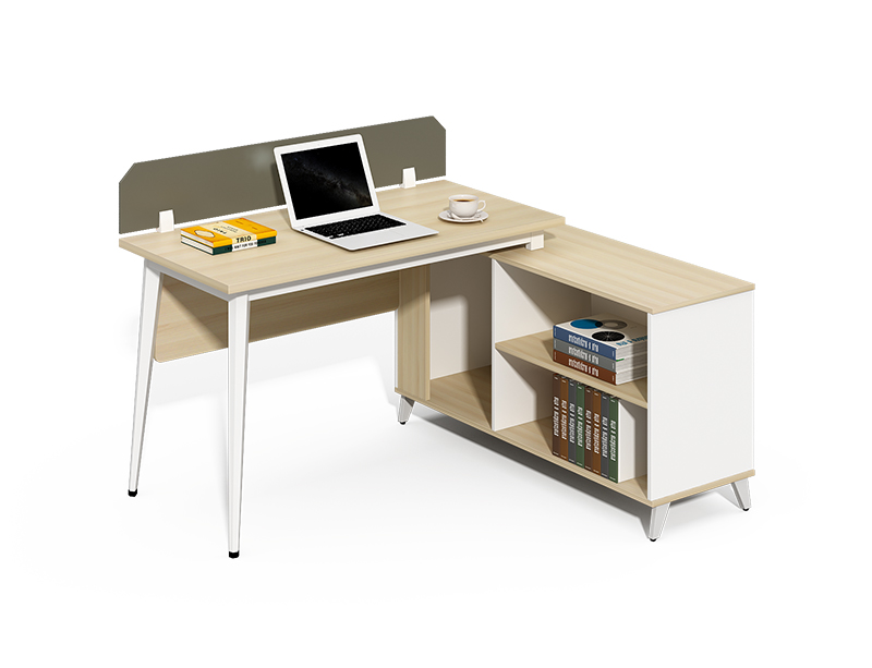 Competitive Price l shaped 1 person office workstations cubicles with shelf CF-BKW1210L