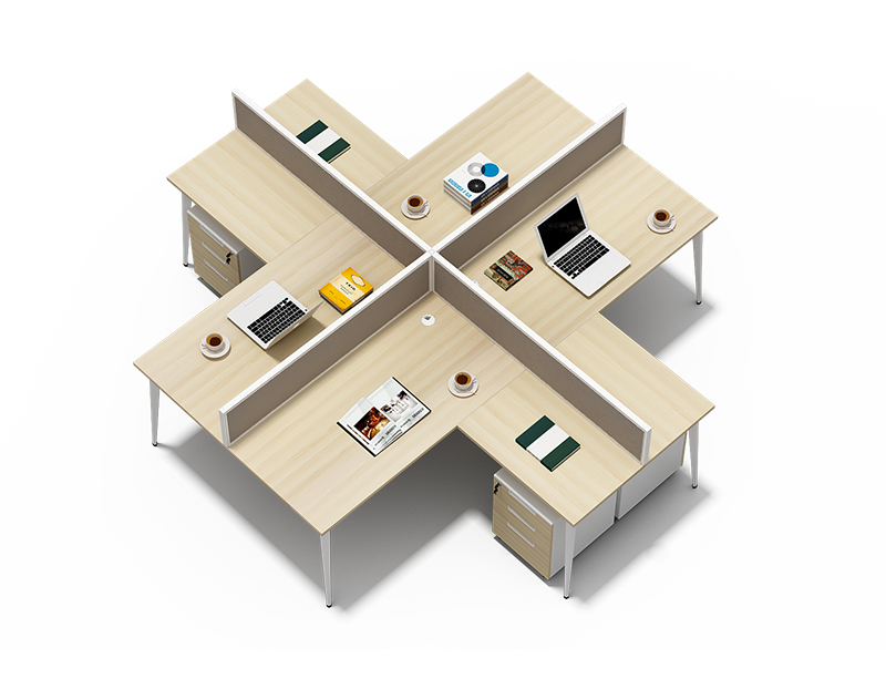 Wholesale office furniture 4 seater office workstation price list CF-BKW2414S