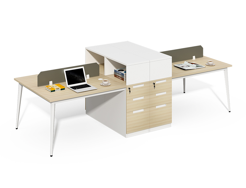 Manufacturer Directly Wholesale metal frame 4 seater office partitions table for sale CF-BKW3212U