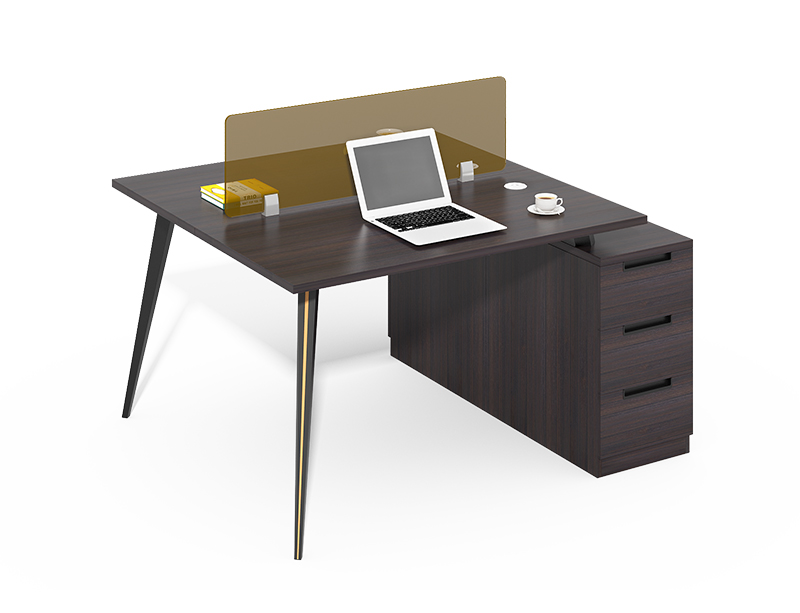 Cheap but high quality 2 seater office workstation with 3 drawers for sale CF-CL1412WC
