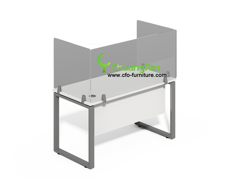 Wholesale cashier Counters Sneezes guard spit shield aluminum frame acrylic workstation desk