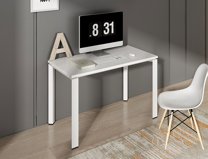 manufacturer professional modern simple design wooden small size white portable study table home office computer desk