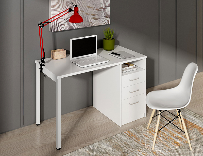High quality Door Type metal frame 3 drawers small home office desk CF-U1260F