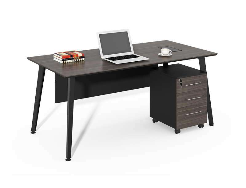 China Office Furniture Factory Price Simple Design Carbon Black Office Table And Chairs CF-HM1260B