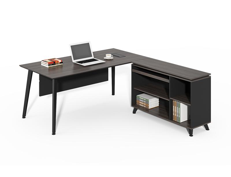 Office Furniture Factory Luxury Black Corner L Shape Ceo Executive Table Desk CF-HM1616A