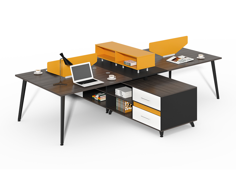 Competitive Price 4 person open office workstations with storage CF-HM2428