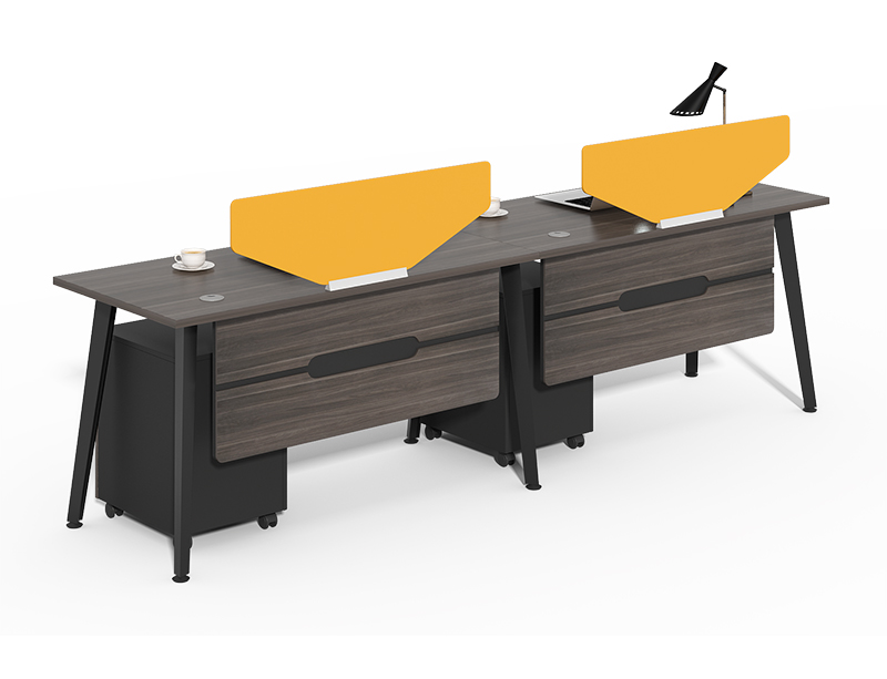 Wholesale Wood Modular Single Side Two Person Office Partitions Desk For Sale CF-HM2406B