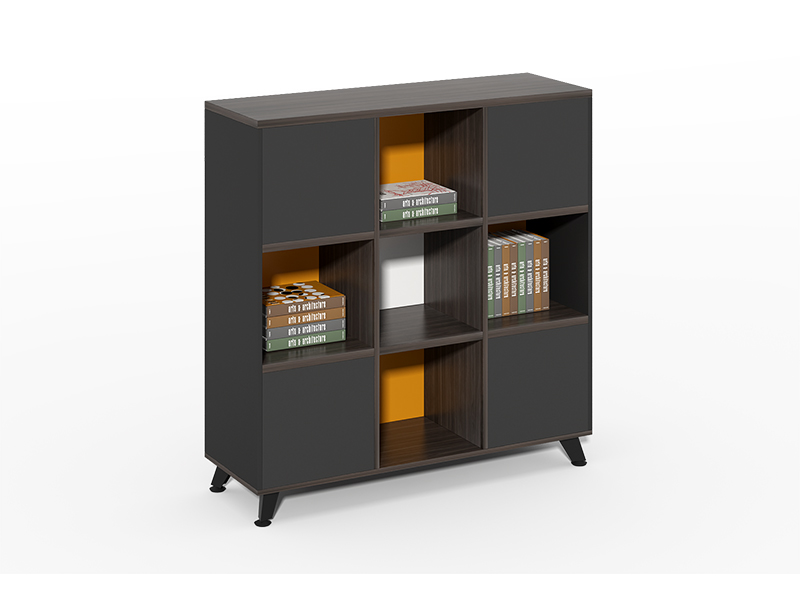 Harmony Series Buy wooden tall bookshelf with cabinet for sale CF-HMF1212B