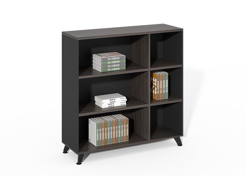 Cheap Price Custom High tall wooden black open bookshelf for home office CF-HMF1212C