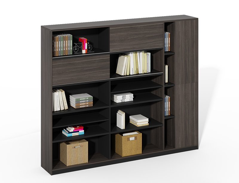 Long Service Life Useful home black wood large office filing cabinets and bookshelf CF-HMF2404B