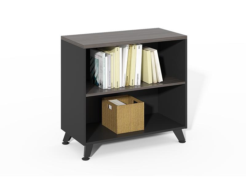 Cheap Best Choice low wooden 2 shelf open bookshelf CF-HMF0875A
