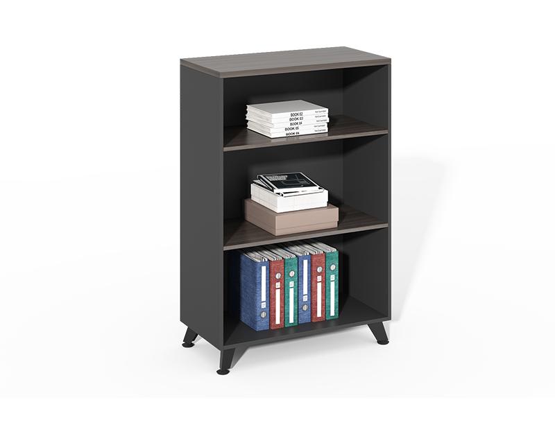 Factory price 3 layer wooden black open bookshelf CF-HMF0812G