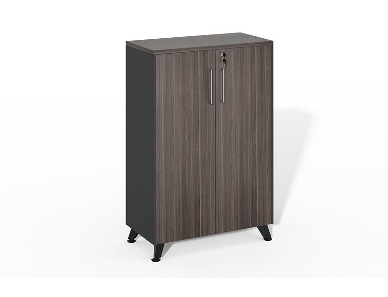 Wholesale High Quality wooden black 2 swing doors storage cabinet CF-HMF0812H
