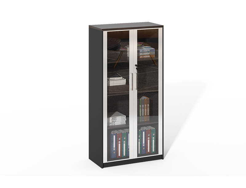 Factory Price Aluminum Frame With 2 Glass Door Locking File Cabinet CF-HMF0816