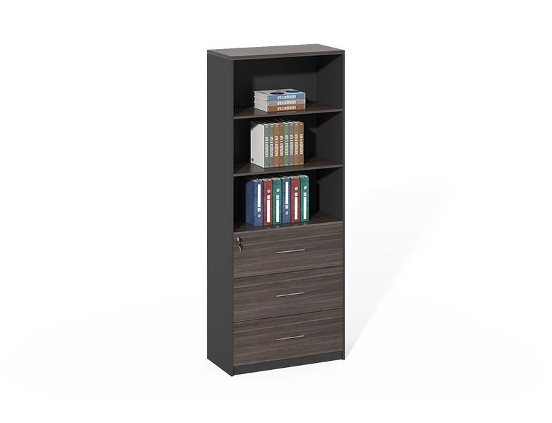 China Foshan Office Furniture Black Wood 3 Big Drawers File Cabinet CF-HMF0820A