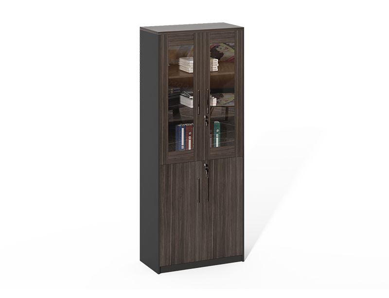 Competitive Price home office Wooden frame 2 glass doors filing cabinet CF-HMF0820C