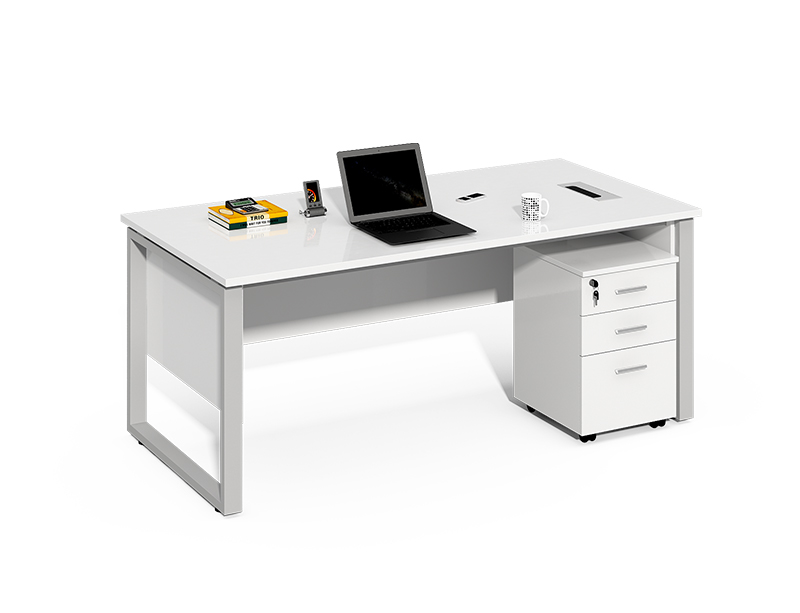 Office furniture manufacturers in china melamine wooden white computer table CF-LY1206C