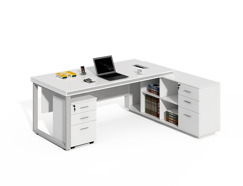 High quality office furniture modern wooden l shaped ceo manager executive desk CF-LY1616LA