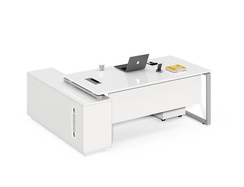 Factory Directly high end modern white color office executive desk set for sale CF-LY1616LB