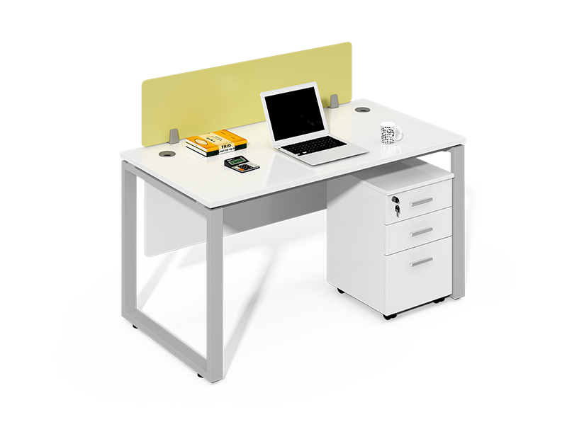 Grey Frame Straight Office Desk with Screens CF-LY1206W