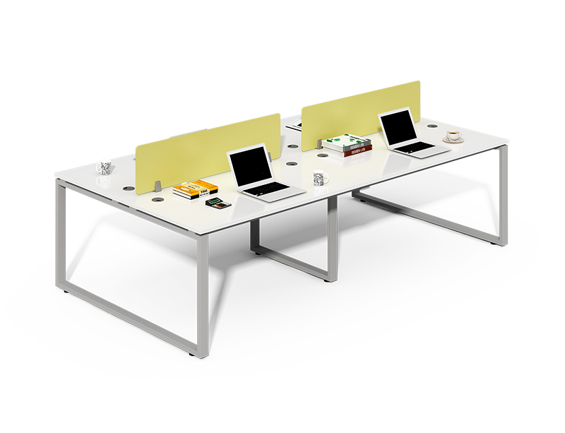 Double Sided 4 Person Workstation with Screens CF-LY2412W