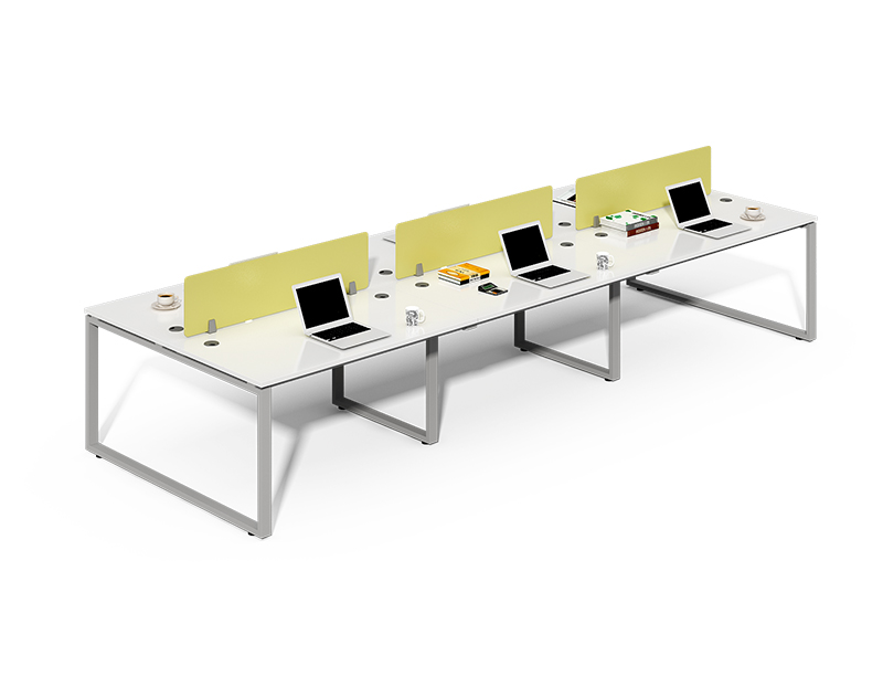 4 Person Straight Desk Open Office Workstation with Panels CF-LY3212W