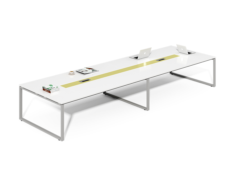 China Wholesale Office Furniture White 4.8m Large Meeting Room Table CF-LY3215A