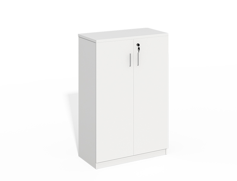 White Wood 2 Doors Filing Cabinet With Lock CF-LY0812C