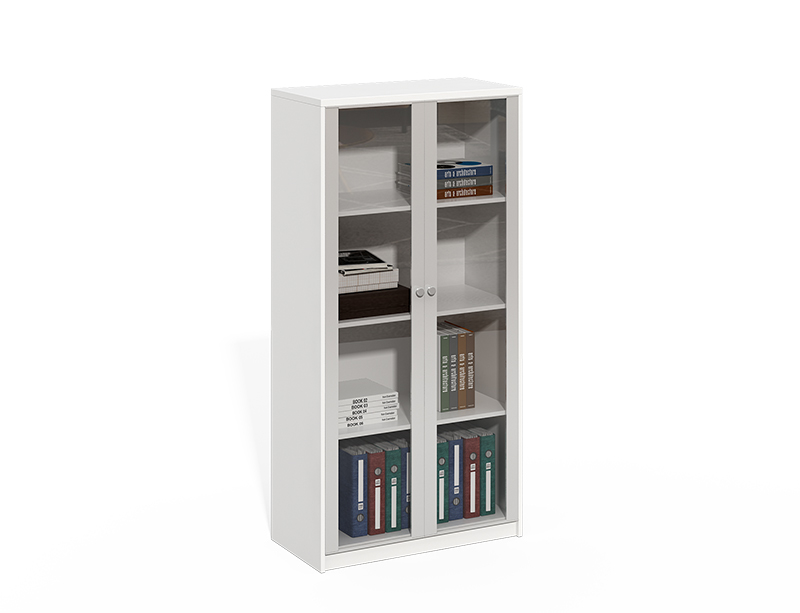 white wood Aluminum frame with glass door filing cabinet CF-LY0816