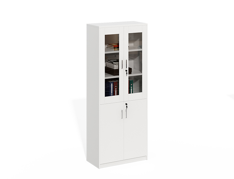 Wooden Frame With Glass Doors File Cabinet CF-LY0820C